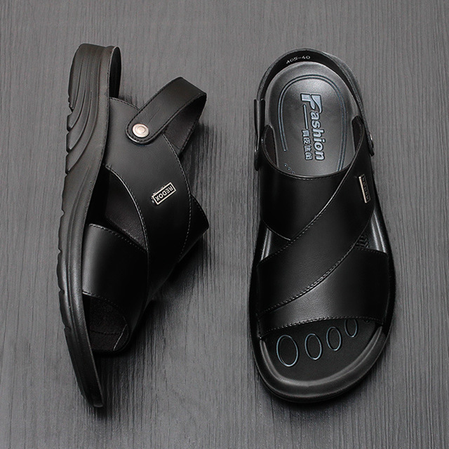Mens sandals and slippers in summer