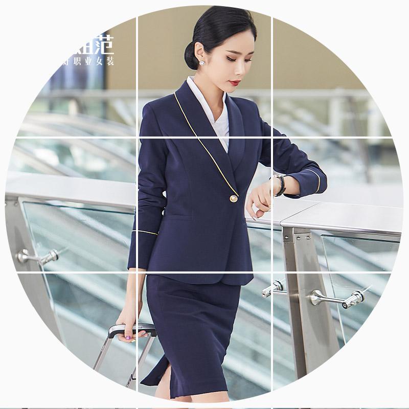南航空姐制服职业西装套装女高端气质工装套裙美容师珠宝店工作服