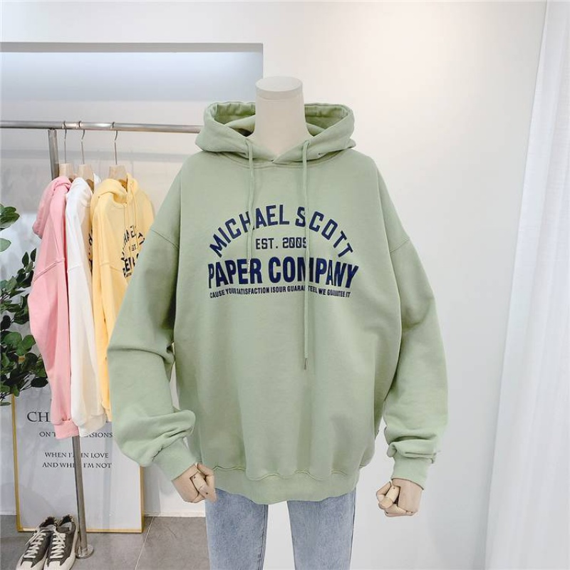 Hoodie womens Korean version 2020 new spring super fire BF Slouchy letter hooded hooded Pullover womens coat