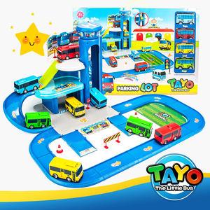 韩国泰路TAYO巴士 儿童卡通玩具汽车停车场 回力太友公交弹射模型