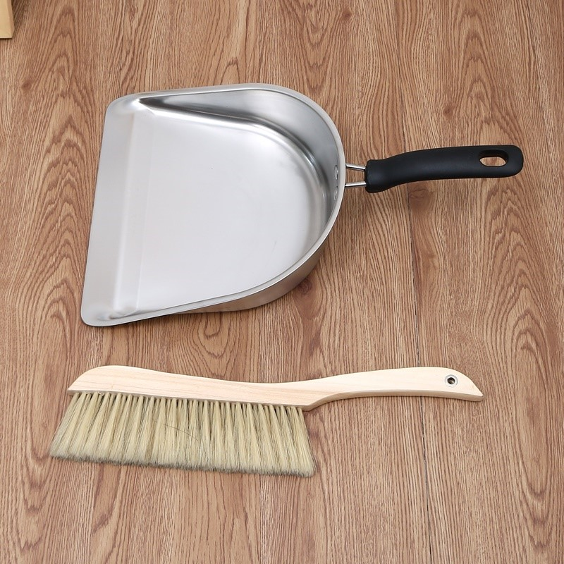 加厚锈钢簸箕小号手持式垃圾铲一体单个撮子家用灰畚斗扫把套装,可领取1元天猫优惠券