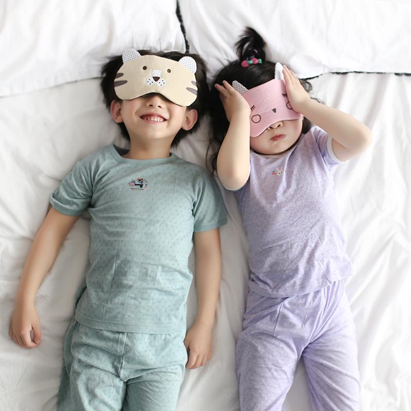 儿童睡衣夏季男童女童短袖纯棉套装小孩薄款空调服睡衣宝宝家居服