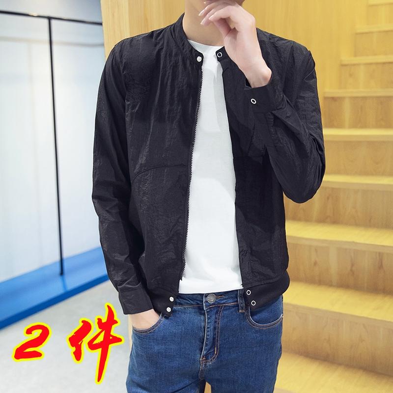 中國代購|中國批發-ibuy99|夹克男|男士防晒衣2021新款超薄外套韩版潮流ulzzang青少年夏装夹克百搭