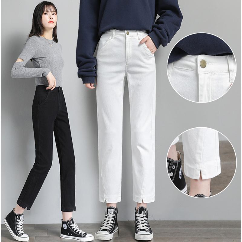 休闲直筒西服裤女春秋装2021年新款女裤九分修身显瘦西装裤子