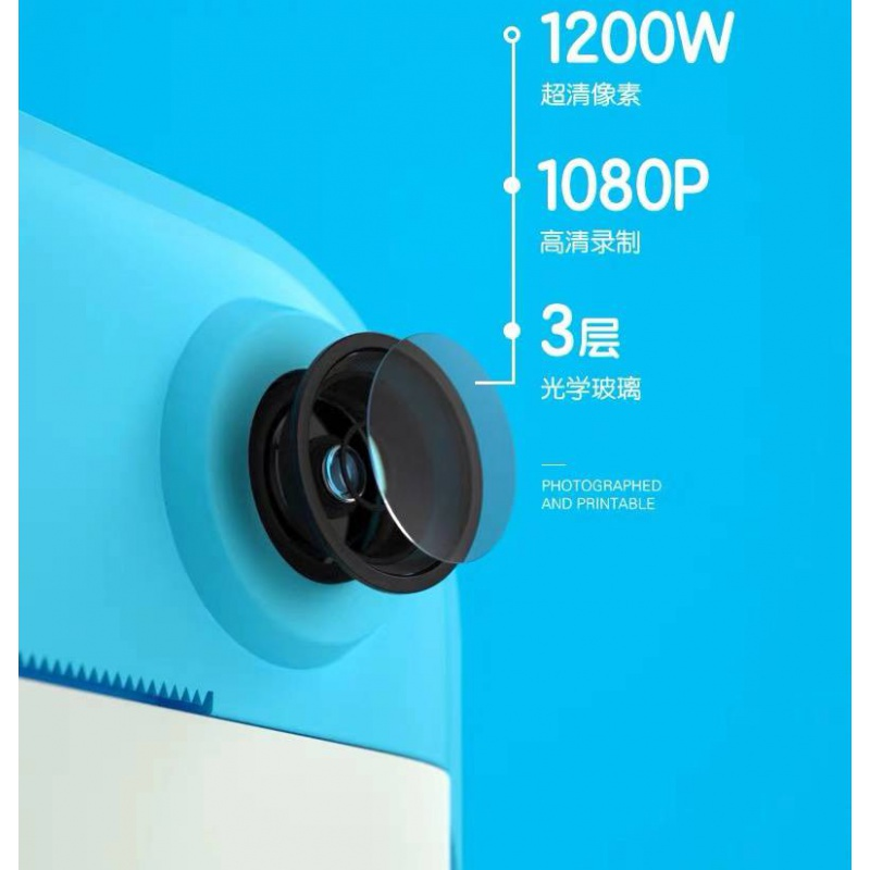 Childrens camera digital standing Polaroid toy can take pictures and print cartoons student SLR mini portable