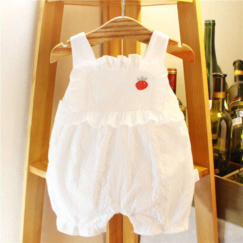 ? Girls Summer Dress Korean lace creeper suit baby cute go out versatile pants baby one piece