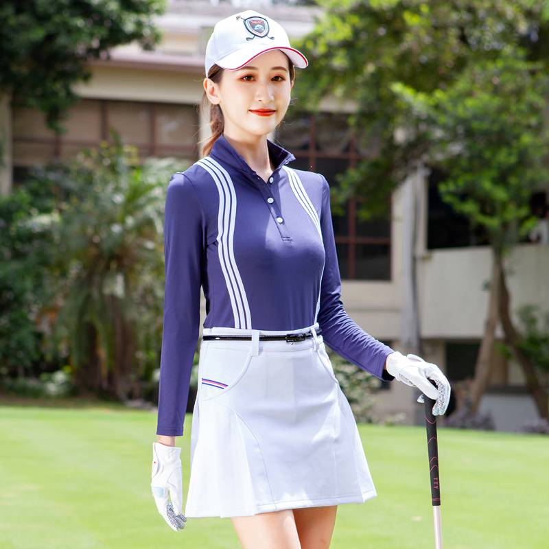 。 Package mail autumn and winter Golf dress womens quick drying long sleeve T-shirt anti light shorts skirt set can be determined