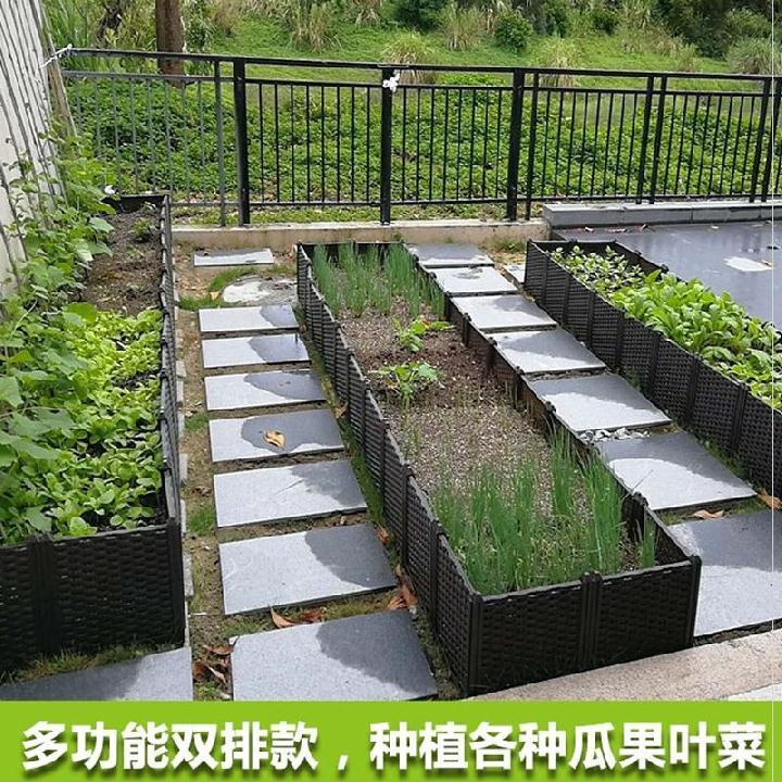 庭の栽培箱木質のベランダの種菜の神器の省空間の家庭用特大な植木鉢の月季の植木鉢の家庭の野菜
