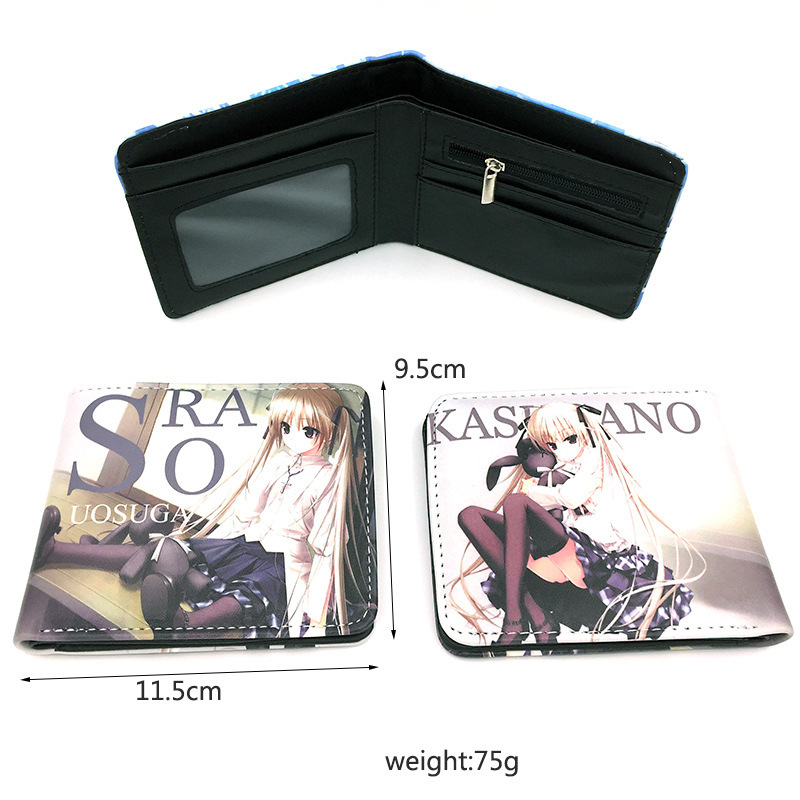 Yuanzhikong wallet spring wild dome full color button short double fold Wallet anime surrounding