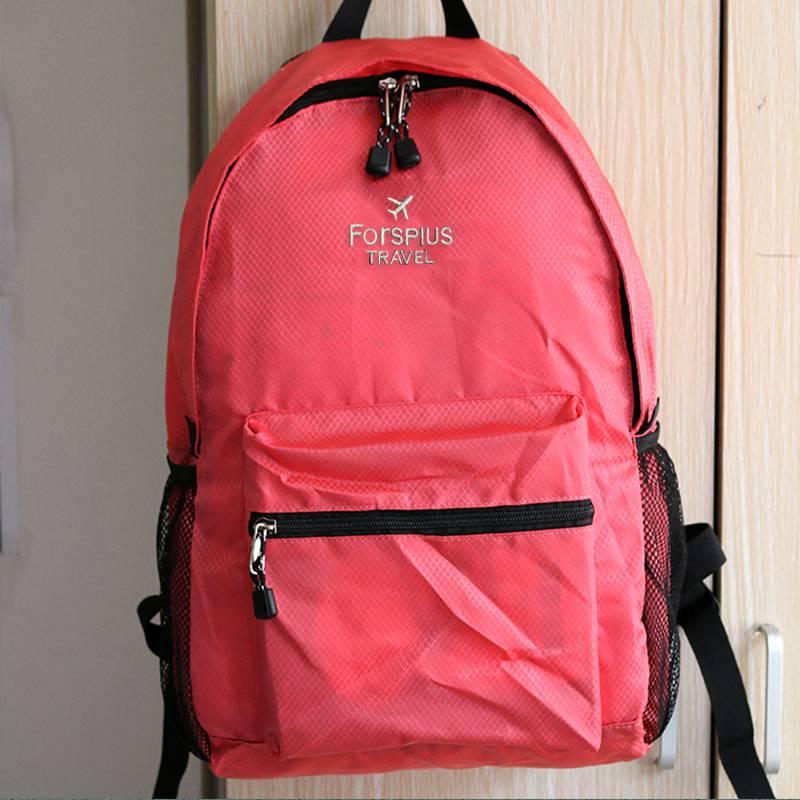 Storage of South Korean light travel bag anti splashing travel soft bag light folding bag backpack backpack backpack simple Backpack