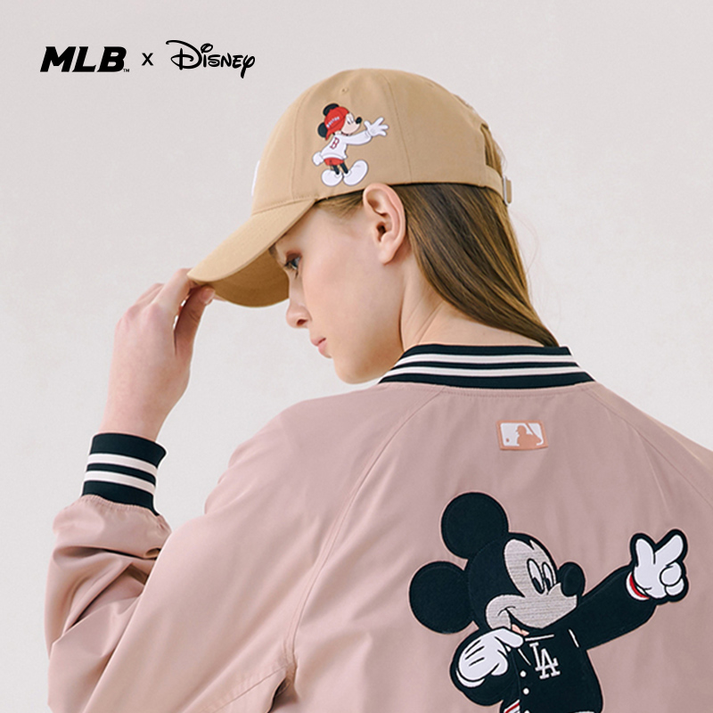 MLB official men's and women's hats Disney Mickey joint baseball cap sports casual cap-32cpkb