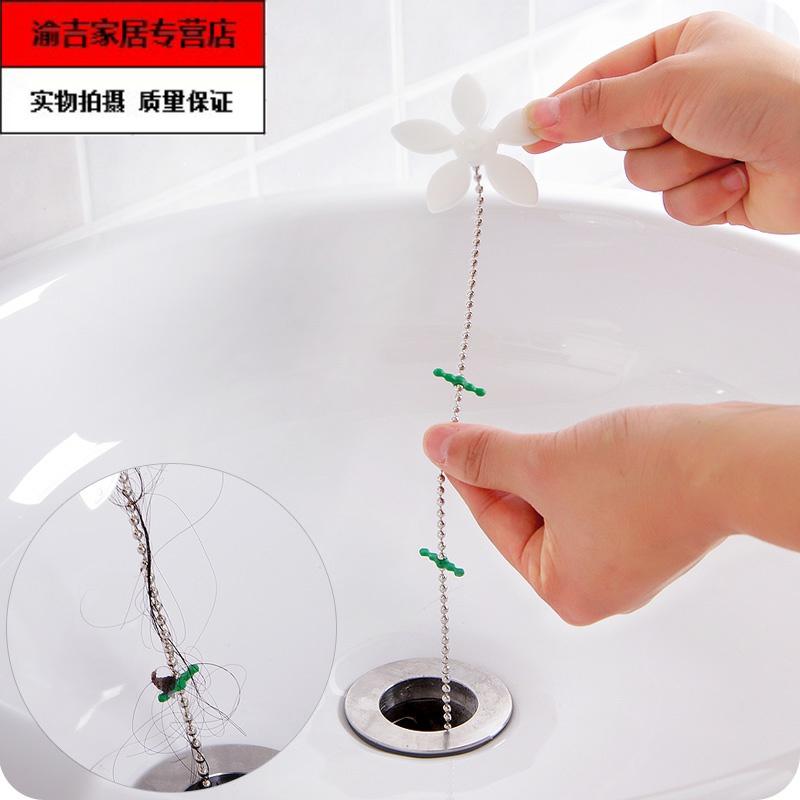 浴室管道防堵头发清洁钩小花造型下水道毛发清理器疏通器,可领取1元天猫优惠券
