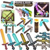 我的世界游戏周边同款模型塑料武器泡沫钻石剑史蒂夫工具男孩玩具