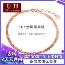 货A金翡翠手链女天然玉石金珠手串绳糯种18K金玉良缘六桂福珠宝