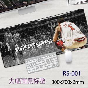 鼠标垫一件定制德里克罗斯Rose体育明星篮球星NBA周边 贴腕垫妖禄