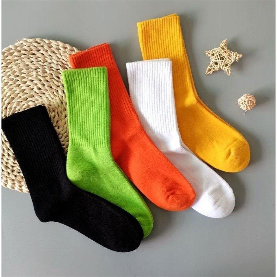 长袜子男女款冬季韩版中筒ins男士女士通用长筒jk纯色袜子