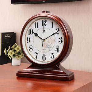 石英客厅台式复古家用桌面大号摆钟