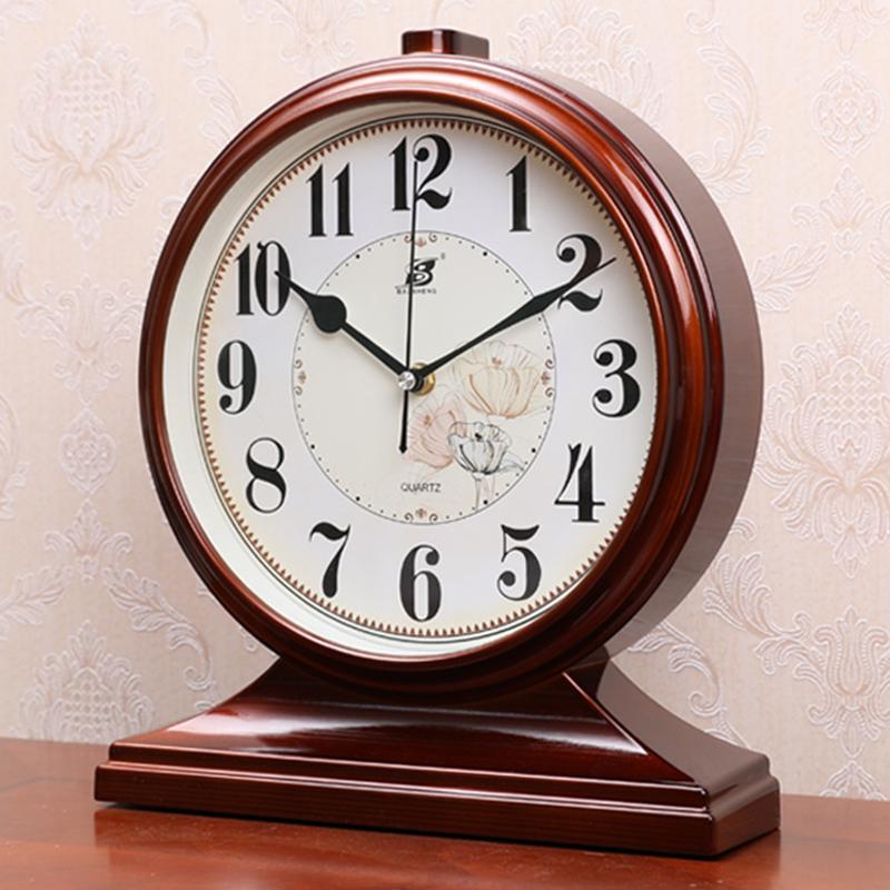 摆钟石英客厅台式座钟老式家用桌面大号钟表坐钟欧式台钟时钟摆件