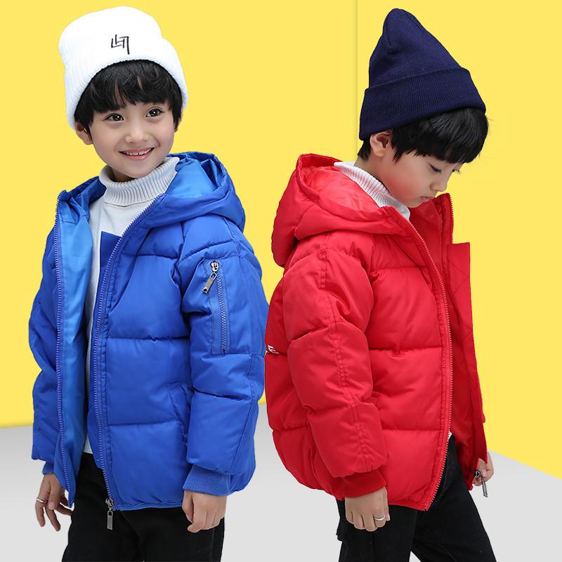 新款韩版外套儿童棉袄女童棉衣男童冬装中大童加厚印花时尚面包服图片