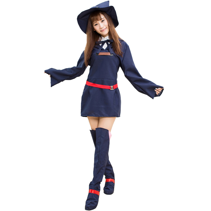 New school uniform of anime witches college cosplay