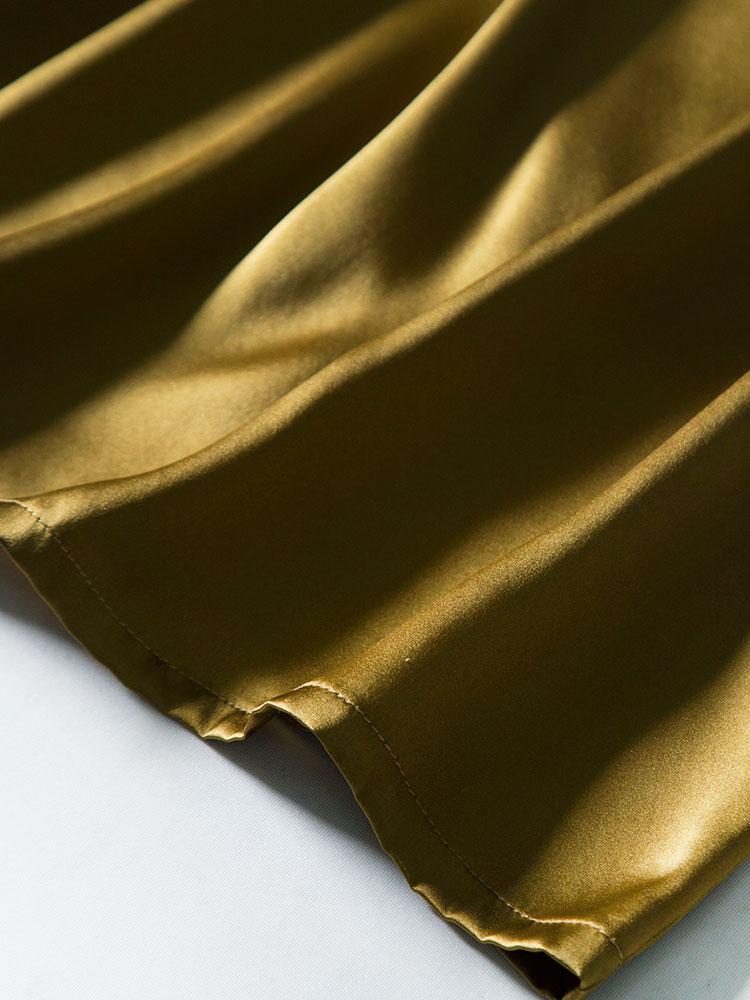 吊带背心女2021新款圆领外穿藏青内搭真丝无袖丝绸缎面打底上衣潮