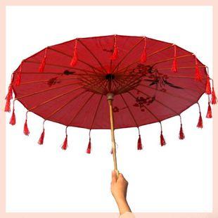 饰古装 伞油纸伞女童成人汉服宫廷 儿童实用照相小伞工艺遮阳杭州装