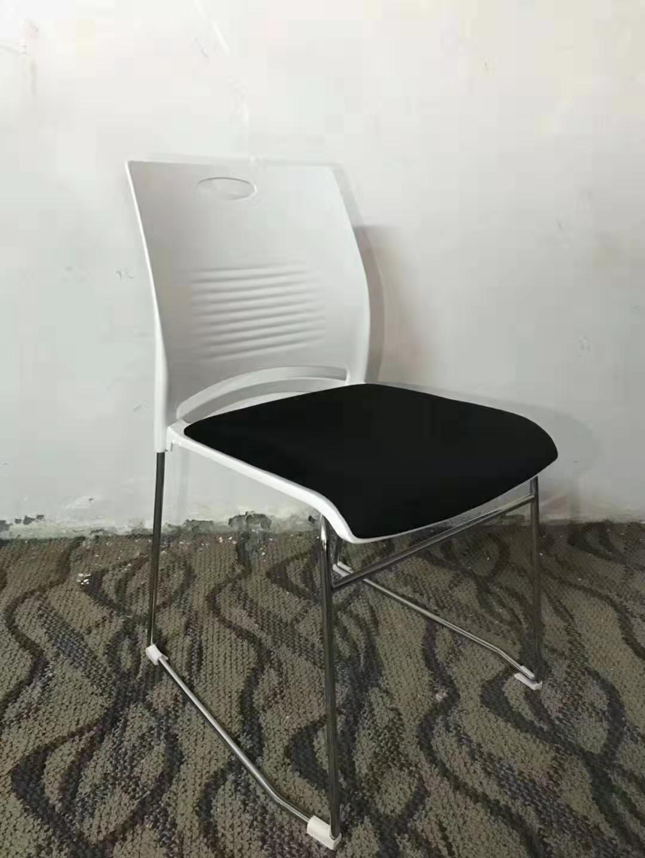简约商业办公家具可叠放塑料质量时尚洽谈椅包邮培训椅实心钢筋椅