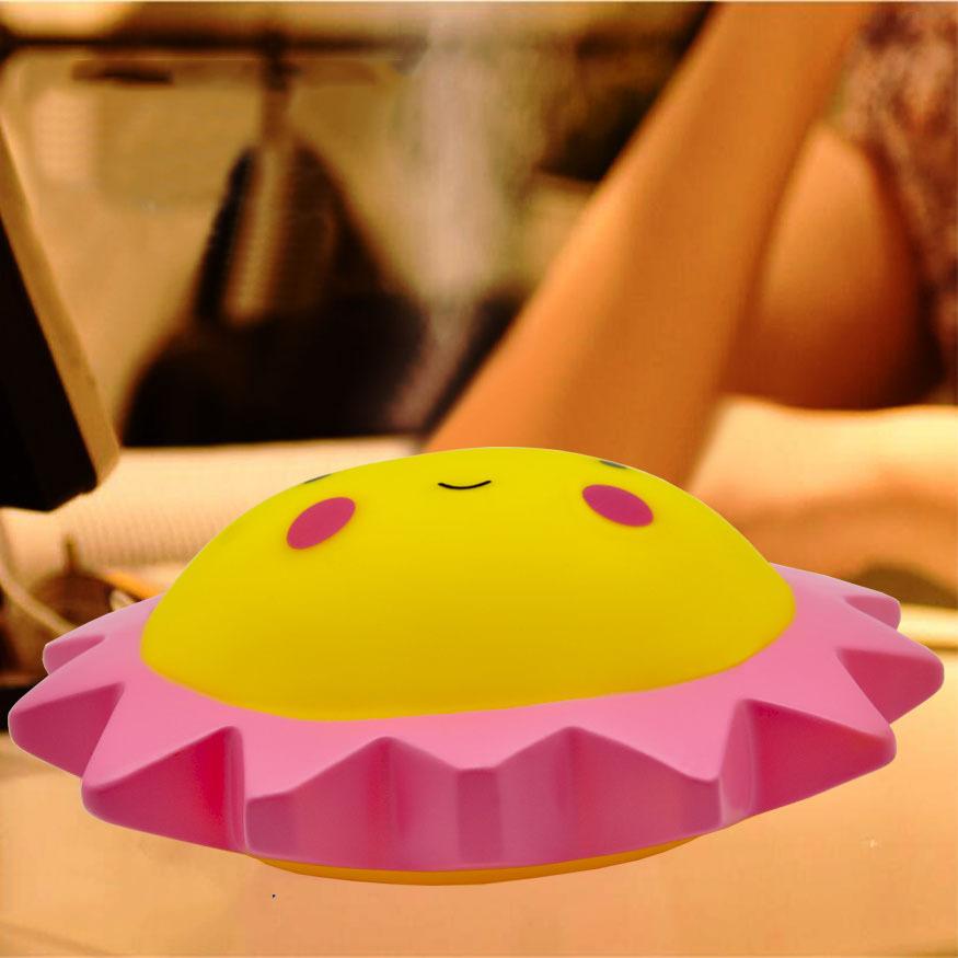タオバオ仕入れ代行-ibuy99|电子玩具|地摊热卖太阳花小夜灯 创意儿童电子发光玩具 搪胶卡通可爱卧室灯