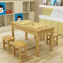 实木培训桌围棋桌中小学生课桌椅书法桌学校辅导班书画桌象棋桌