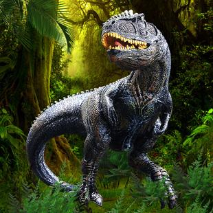 儿童恐龙玩具模型仿真动物大号南方巨兽龙帝王霸王龙狂暴龙伶盗龙