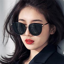 PC框秀智款太阳眼镜圆框炫彩水银眼镜女士大框修脸显瘦蛤蟆镜墨镜图片