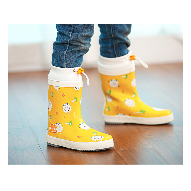 Childrens rain shoes boys and girls rubber shoes childrens water shoes light medium tube childrens childrens non slip and wear-resistant baby rain boots