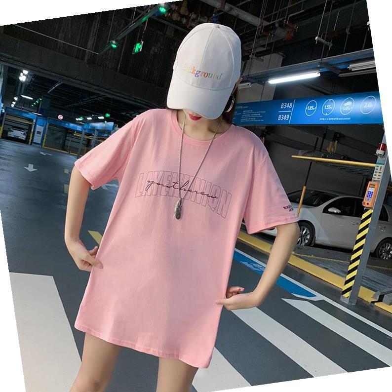 下衣失踪宽松大版t恤女短袖20满59元可用5元优惠券