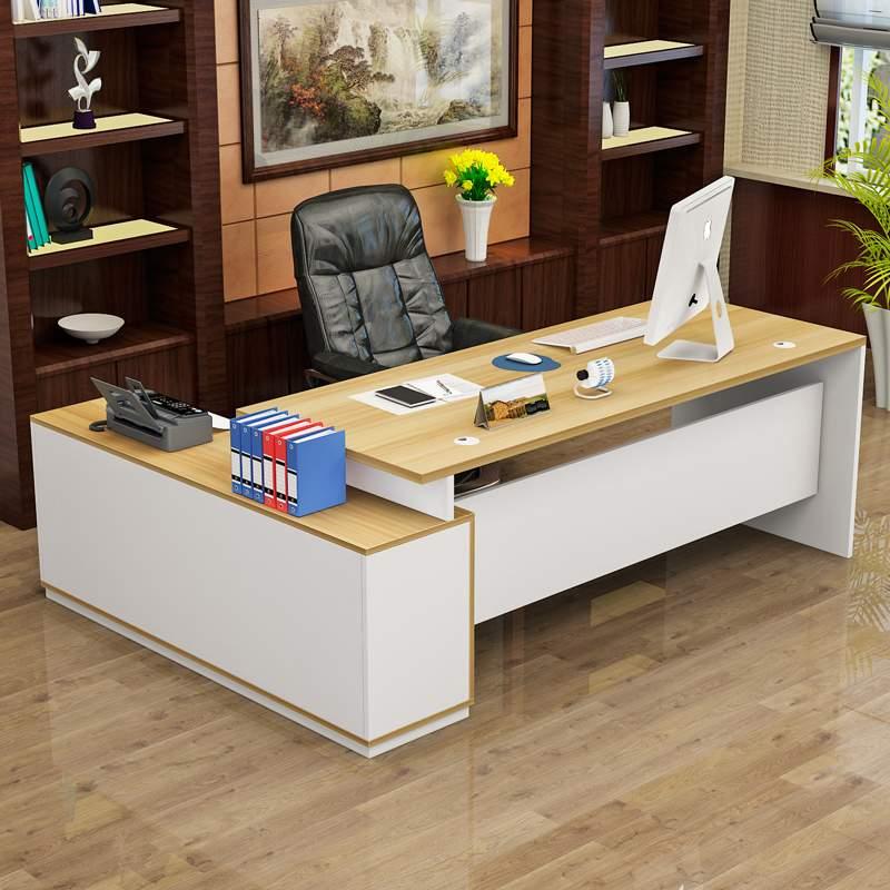 事務机の大きい組の台の厚い事務机と椅子の社長の戸棚の総裁テーブルの大気のシングルファッションの主管台