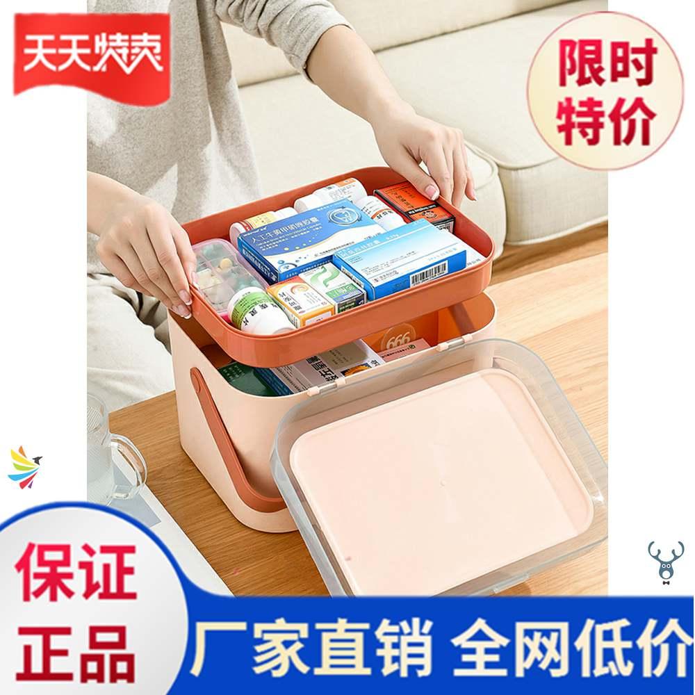 。药箱家庭装大容家用宝宝医药箱医药箱家庭用用品应急装药盒新款