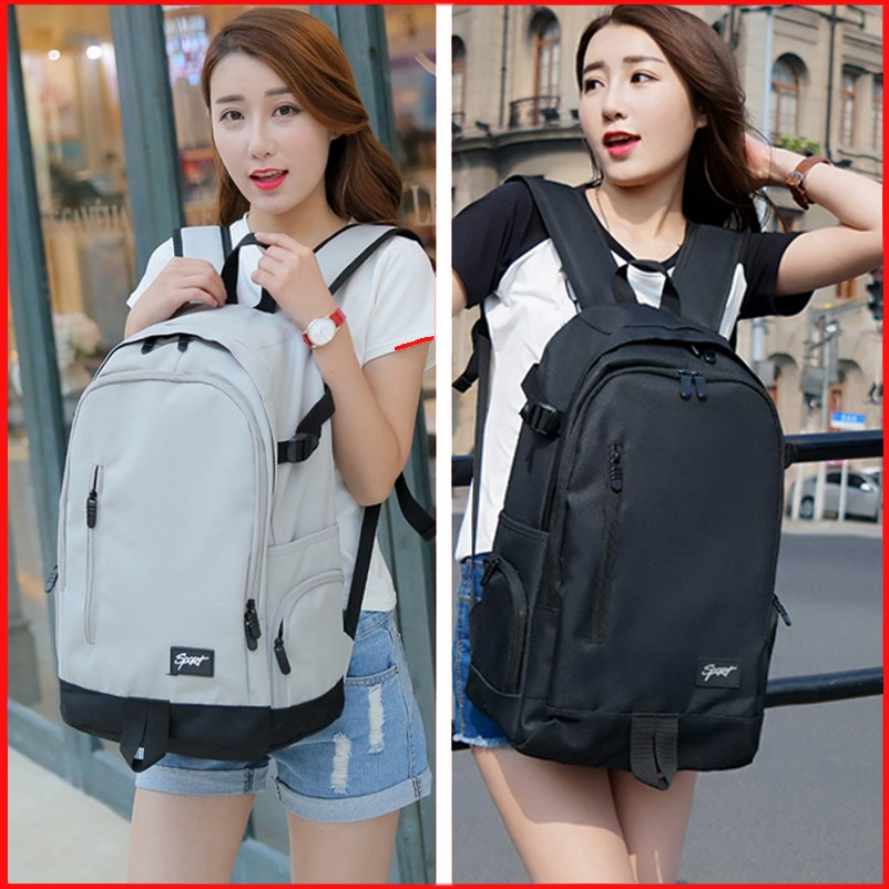 Backpack male fashion trend high school student schoolbag female Korean version large capacity computer backpack leisure travel bag male