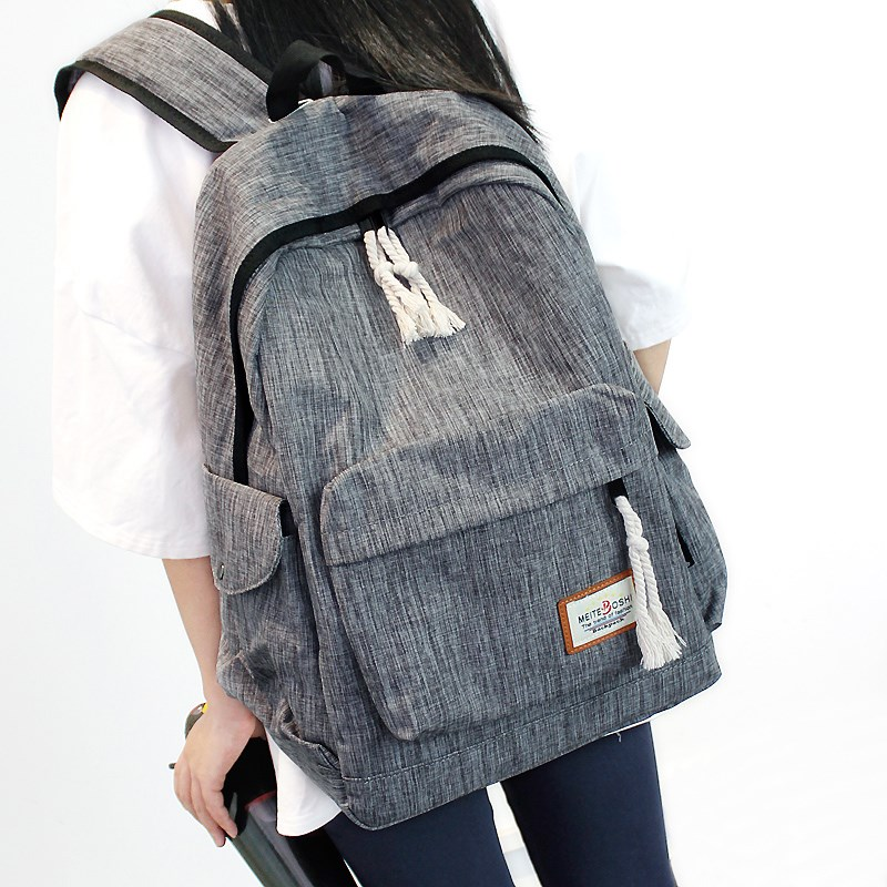Simple backpack for men and women Korean Middle School Students schoolbag large capacity Travel Backpack college wind computer bag leisure bag