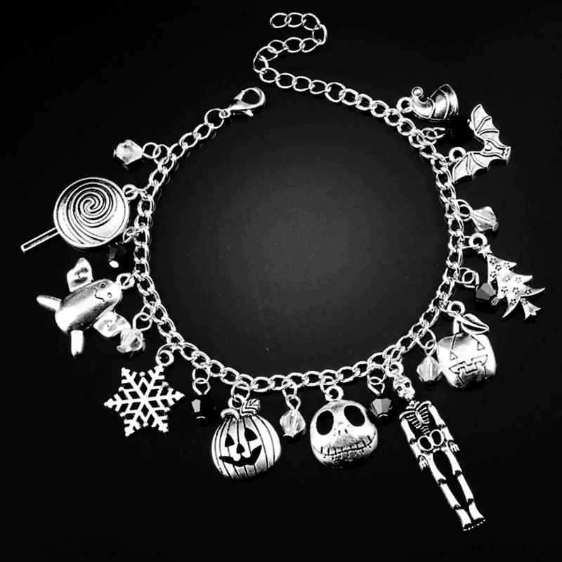 Snow flower stick Crystal Bead Charm Bracelet Christmas night soul stirring Bracelet Yiwu Halloween Gift