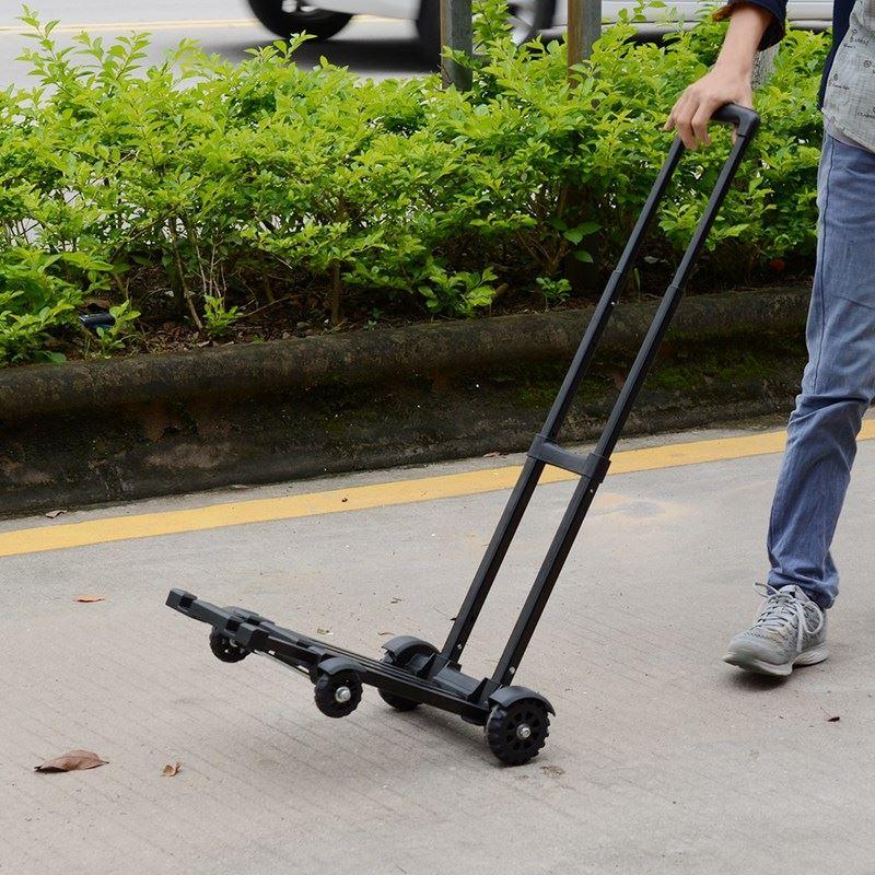 迷你买菜小拉车可折叠便携手拉车家用购物拉货拖车搬运行李拉杆车