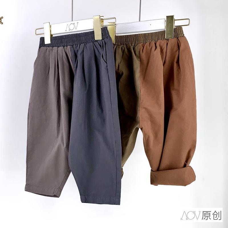 儿童工装裤夏季拼接男童韩版潮长裤