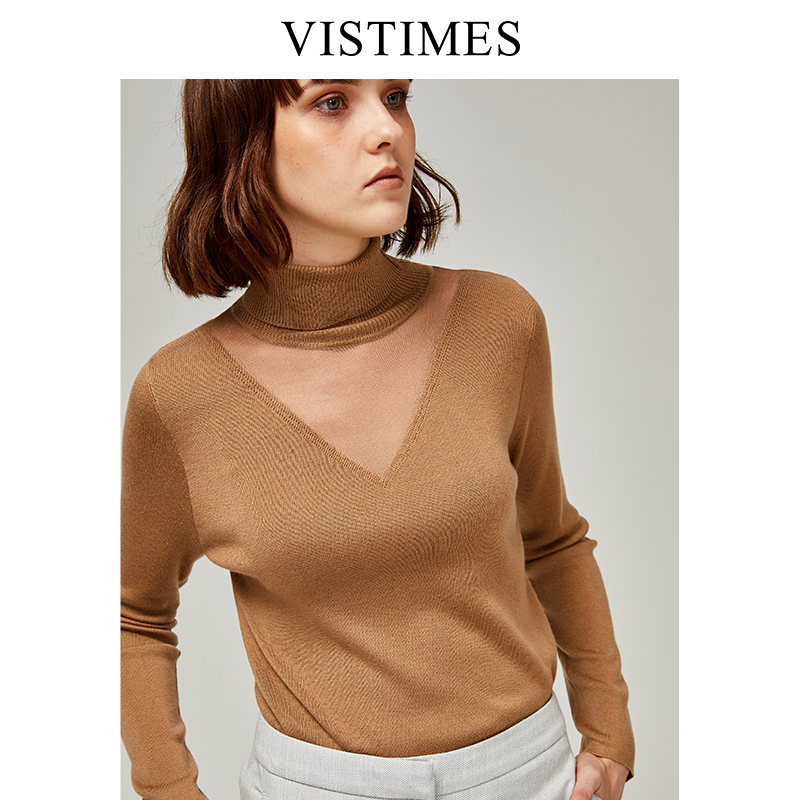 Sexy thin woolen sweater new womens lazy and loose style Korean bottom sweater thin top
