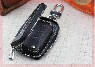 透明通用拉链手工车标钥匙包男女个性车型保护折叠双层窗版全新