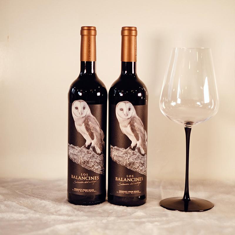 双支装西班牙原瓶进口 洛兰诗臻选 猫头鹰红酒 送精品海马刀