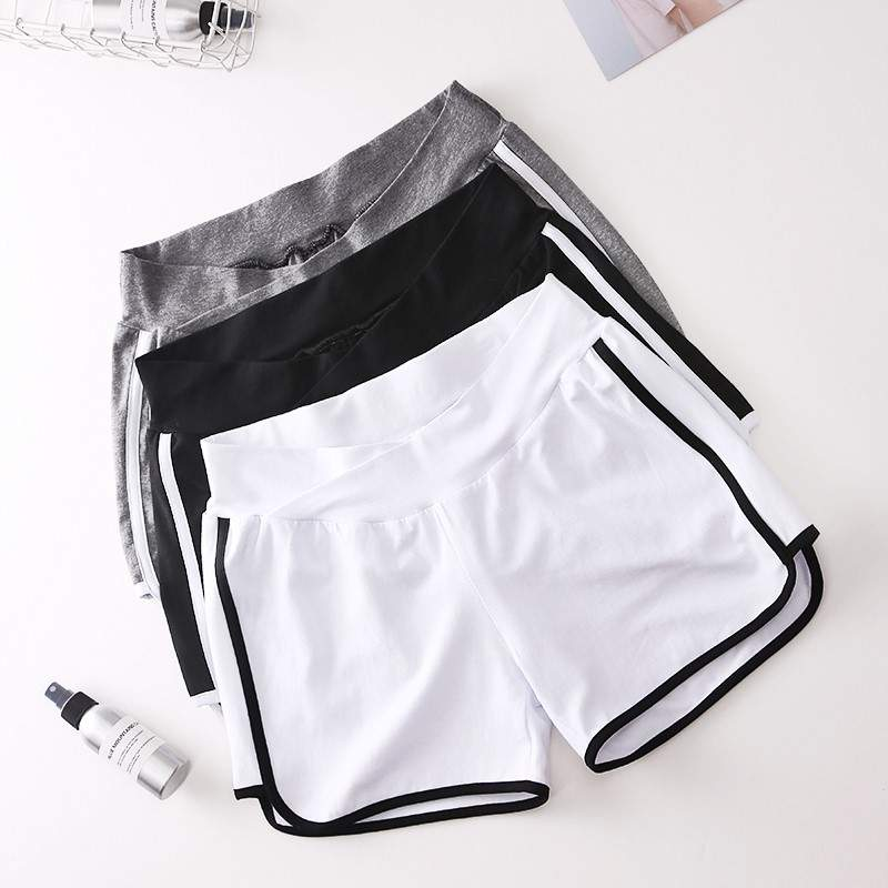 Pregnant womens summer top with shorts pregnant womens summer suit fashion 2019 new short sleeve T-shirt + Low Waist Shorts