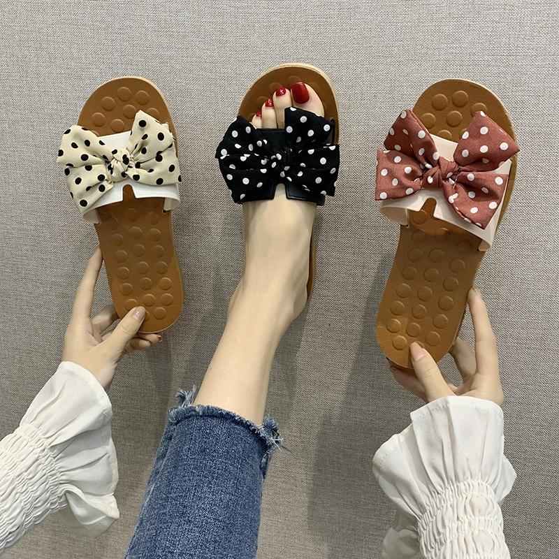 2020新款蝴蝶结拖鞋女士夏季韩版外穿出时尚网红少女心平底凉拖鞋