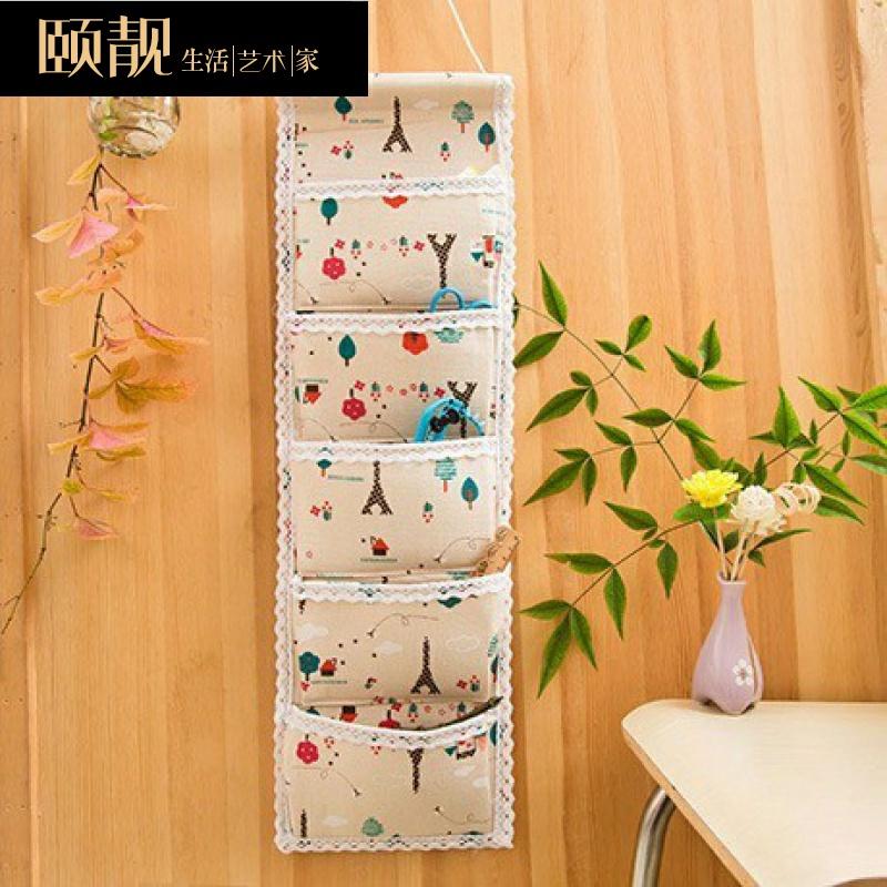 墙壁置物架收纳布挂墙铺宿舍卧室储物袋布艺简约大号小清新袜子衣