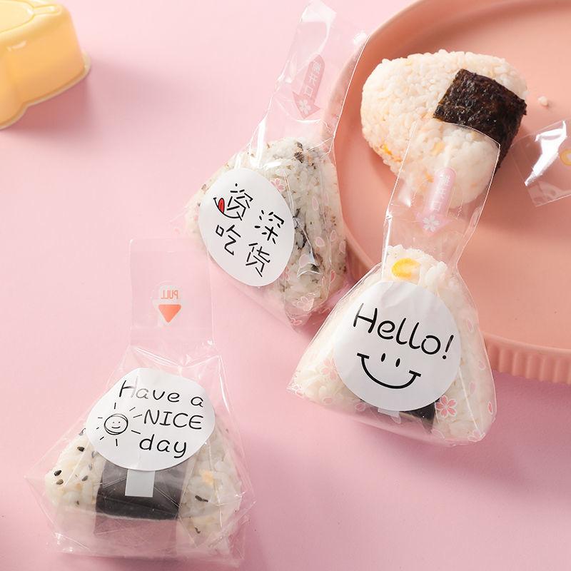 三角饭团包装袋包装纸商用家用模具一次性寿司专用纸打包可爱袋子