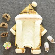 男女宝宝冬装0一1岁3婴儿冬季外出抱衣6个月加厚连体衣婴幼儿衣服