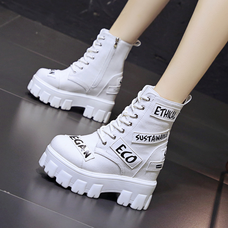 New autumn 2020 new style high sole Martin boots within 10cm high heel short boots womens versatile motorcycle boots short boots