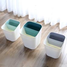 楚腾日系干湿分离分类垃圾桶家用客厅厨房卫生间卧室网红桌上纸篓